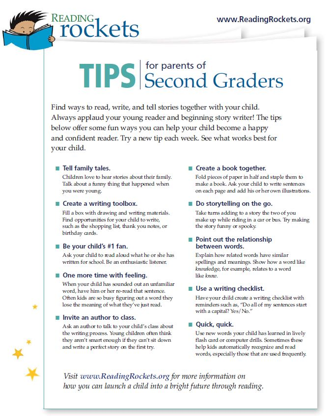 Reading Rockets Tips for Parents of Grade 2 Students